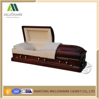 Antique wooden coffin and casket