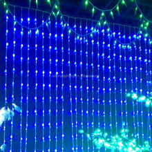 Christmas tree/window/garden/shopping mal led curtain waterfall dark blue christmas lights