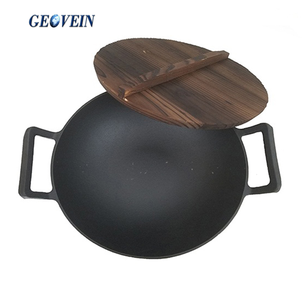 Delicious food can make iron wok of 37cm round bottom