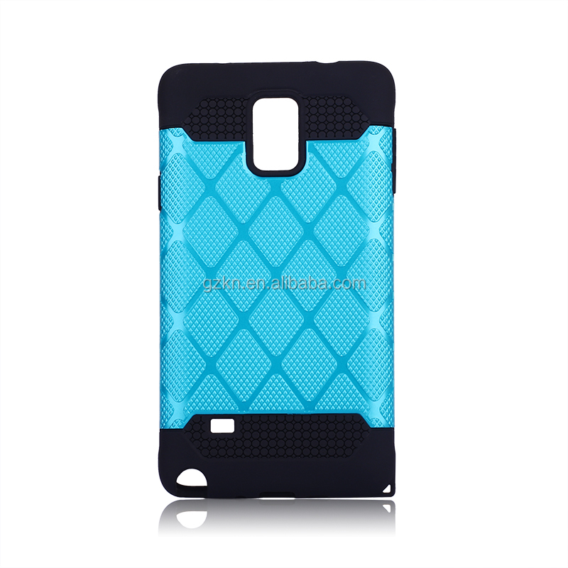 Rugged TPU and PC 2 in 1 bumper case for Samsung Galaxy note 4