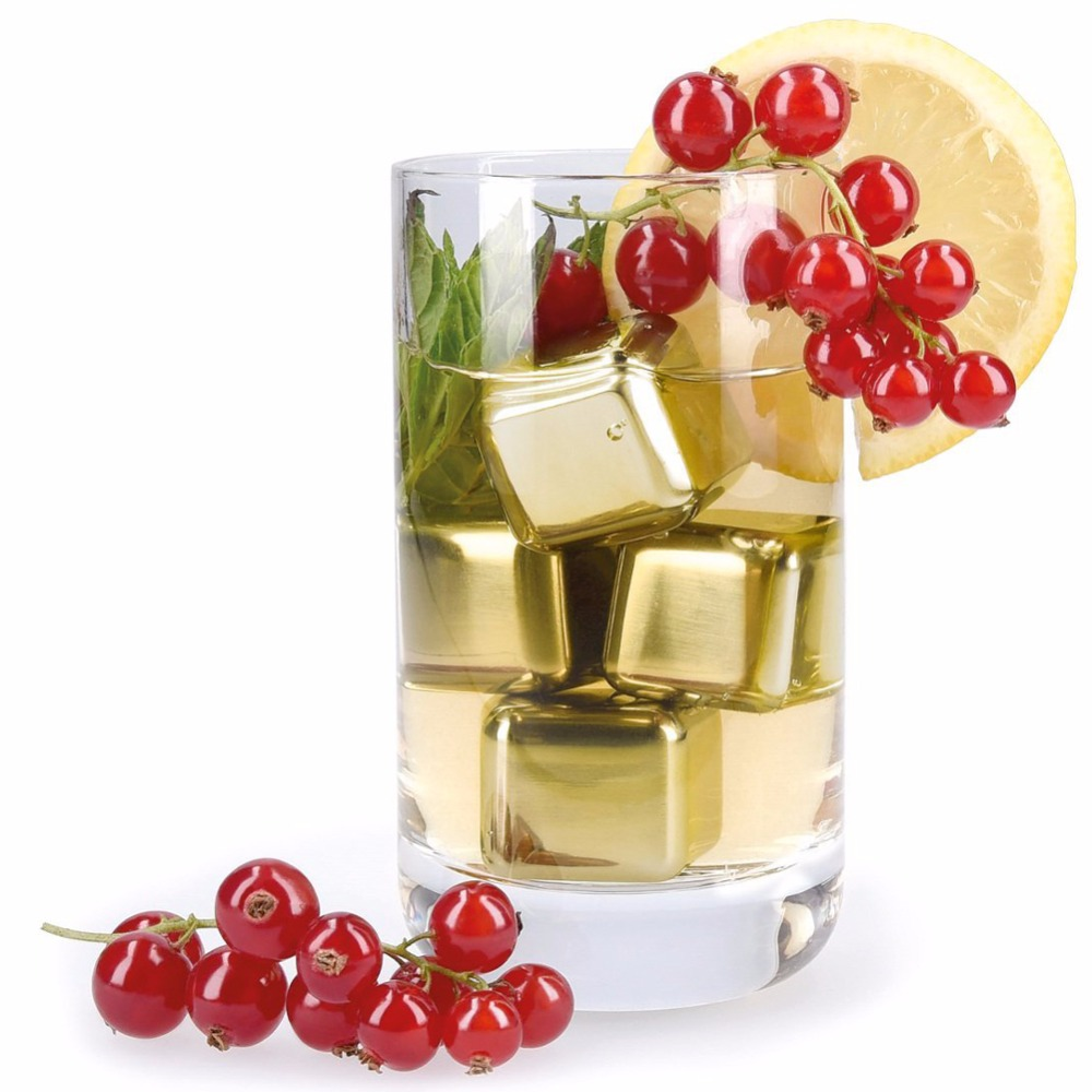 Stainless Steel Chilling Reusable Ice Cubes for whiskey vodka liqueurs white <strong>wine</strong> and more Pack of 8