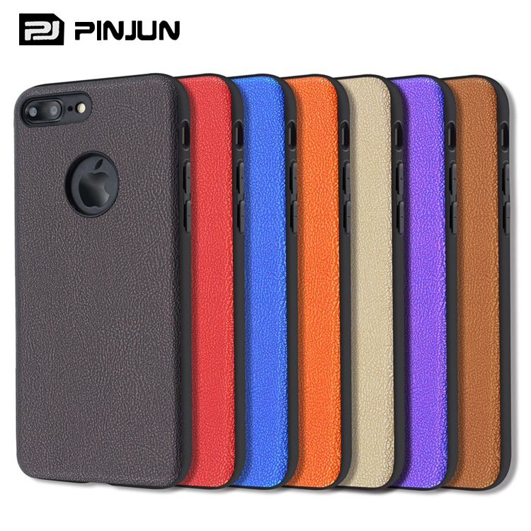 all round body coverage tpu pc hybrid leather phone case cover for iphone 7 plus hard case 360