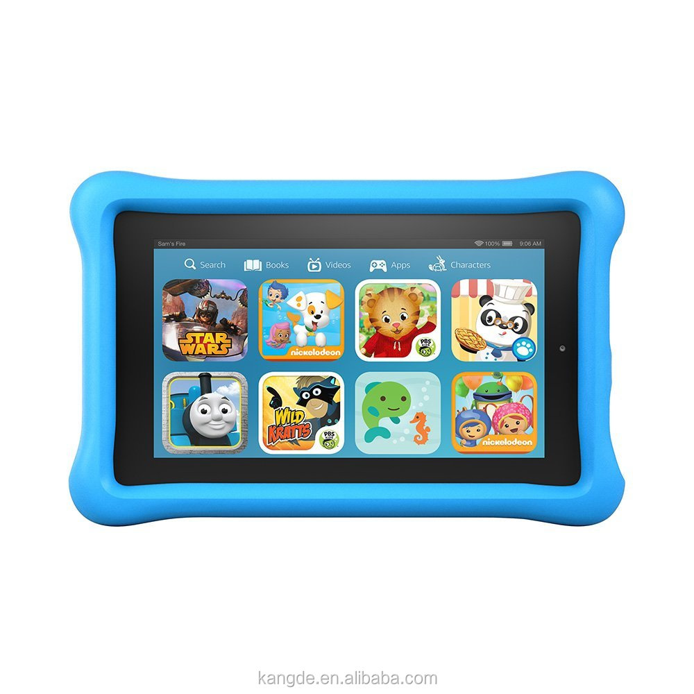 "2015 New Child Safe Drop Resistant Silicone Tablet Bumper Cover Cases For Fire Kids Edition 7"" Display 2015 released"