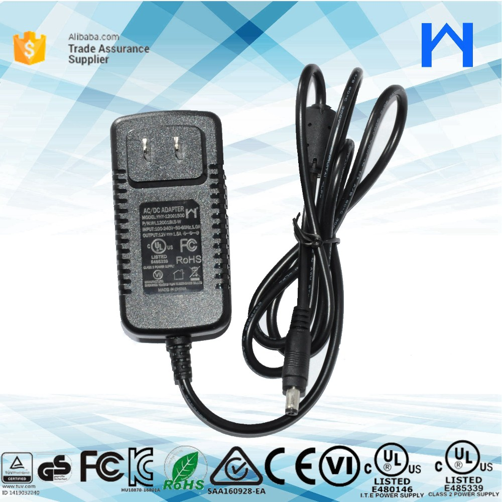 KC Power Adapter Wall type power adapter 12V 1.5A KC Wall Adapter charger for Korea Market KC KCC approval AC Adaptor