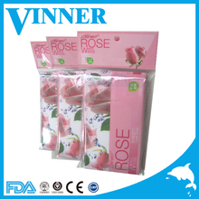 10pcs packed well cared facial rose wet wipes no alcohol