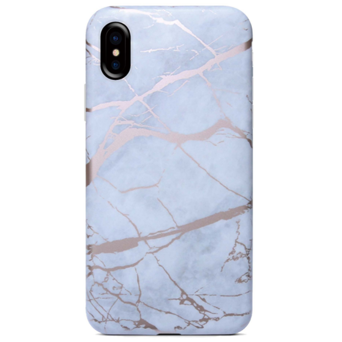 Smart 2018 for iphone X 8 8Plus Simple Crack Marble TPU Case, for iphone 7 7plus rock case back cover