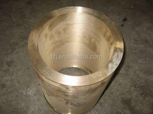 Large diameter brass pipe view