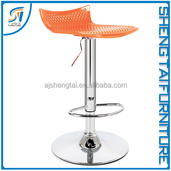 Wholesale cheap plastic bar stool with footrest