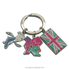 custom UK tourism key chain, metal souvenir keychain