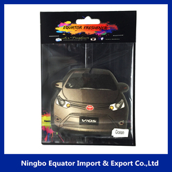 ningbo factory aroma car shaped paper air freshener for car,home