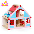Best supplies loving wooden doll small house for children W06A317