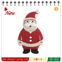 XM4-01 Customized christmas decoration Santa in felt for home decoration