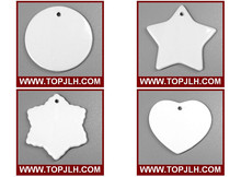 Diffferent shapes Ceramic ornament tile sublimation