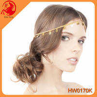 2016 Wholesale hot selling head jewelry indian head chain jewelry hair indian head piece chain