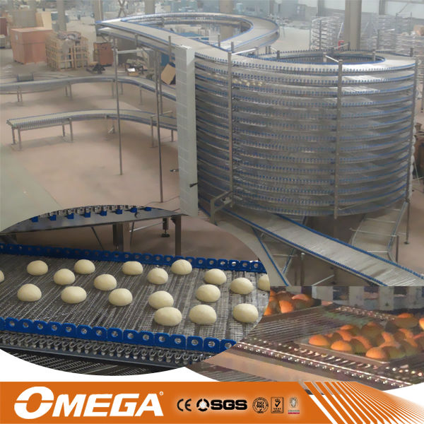 stainless steel floor standing bread hamburger toast spiral cooling tower(manufacturer)