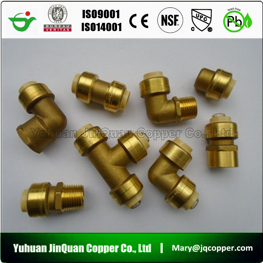 cUPC NSF approved High Quality Lead Free Brass pipe compression fittings