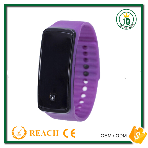 2016 popular new design LED wristbands silicon imported watches