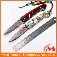 Damascus steel knife blanks hunting knife Pakistan folding survival multifunction pocket knife