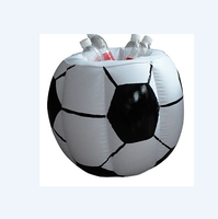 fashion outdoor inflatable football ice cooler bucket as promotion advertising