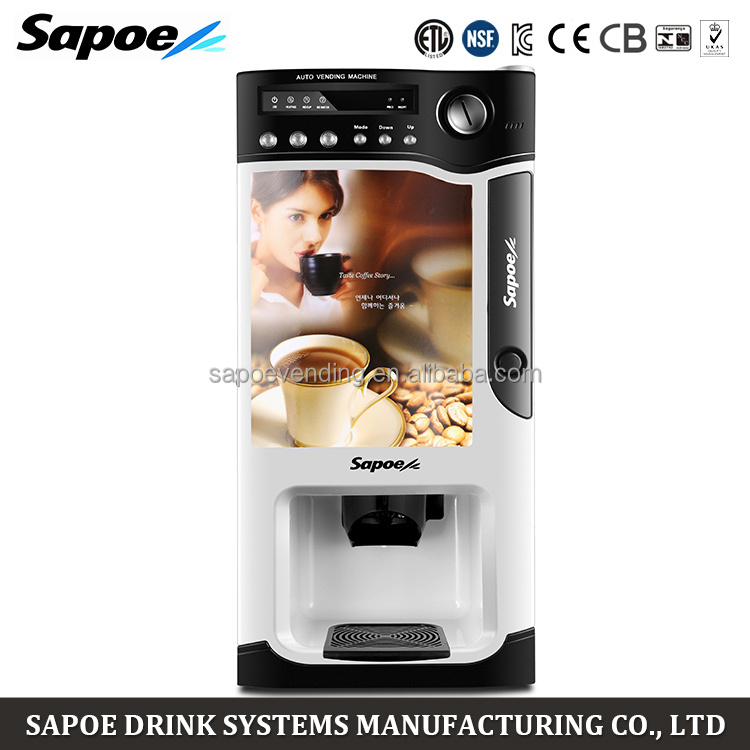 Home Restaurant Office Automatic Coffee Vending Machine Sapoe