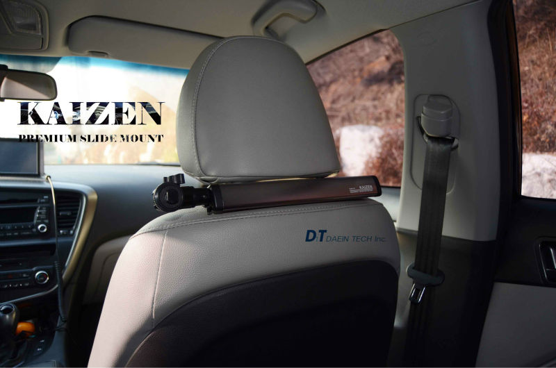 [KAIZEN Headrest Mount] - Aluminum Slide Car Holder / automobile holder / car accessories / auto accessories
