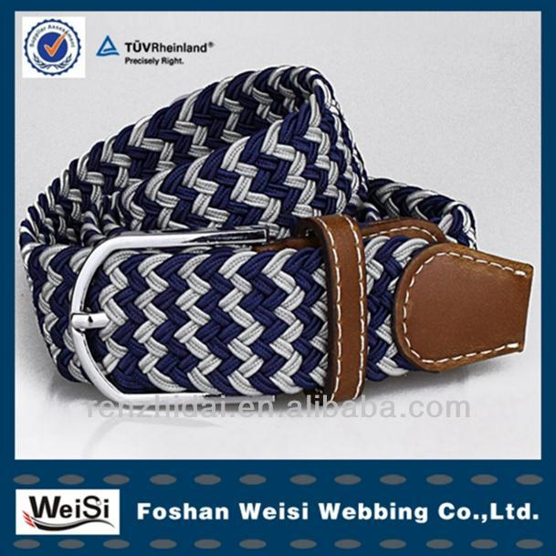 competitive price lady's braided belts woven braided belt