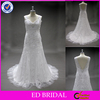 LN58 Shinny Sequin Lace Appliqued Real Sample Slight Trumpet Wedding Dress Patterns