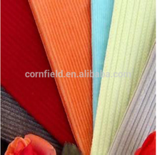"57/58"" 130gsm yarn dyed plain 100%cotton cotton corduroy fabric with high quality for garments"