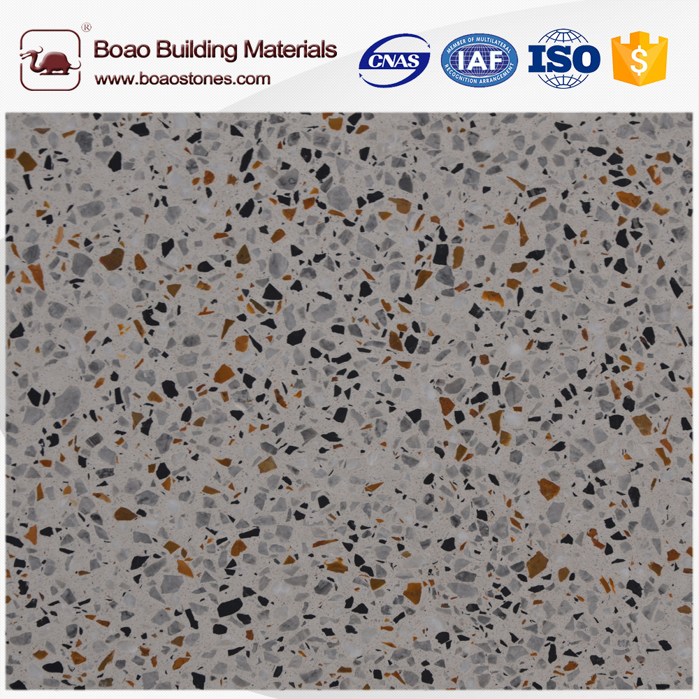 600*600mm floor and wall tile artificial terrazzo stone tile