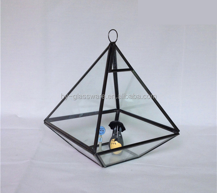 Wholesale Hanging Geometric Glass Container Geometric Glass