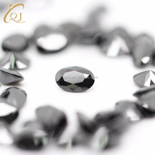 AAA loose synthetic 2*3mm diamond black oval cubic zirconia