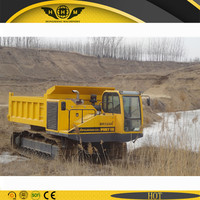 Crawler tipper vehicles for rough terrain