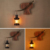 Vintage Chinese Style led indoor wall light wooden lamp fixture rustic decor