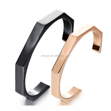 Geometry stainless steel Bracelet rose/black gold couple cuff bangle