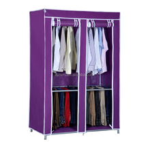 Hot sale free installation sliding door fold portable fabric wardrobe closet