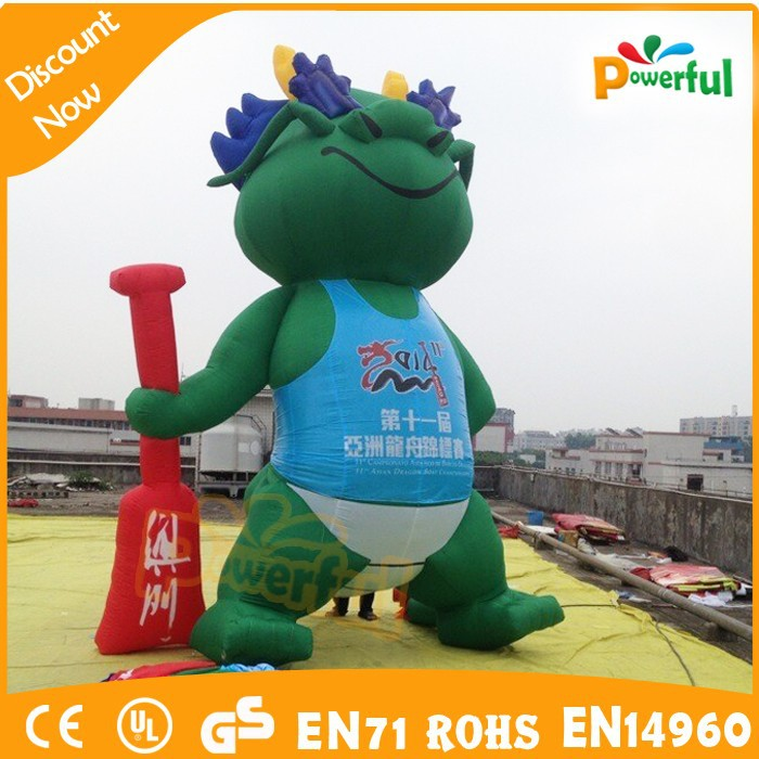2015 Outdoor inflatable advertising dragon/green dragon