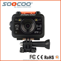 SOOCOO S70 Full HD Extreme Sport Action Camera with 2.4G Remote Control 2K 170 Degree Wide-angle Lens Built- in WIFI Waterproof
