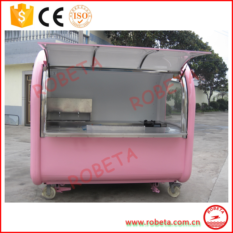 High quality food vending van / food truck stand / mobile fryer food cart