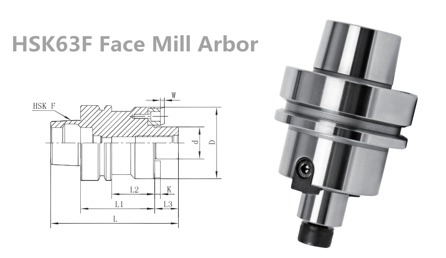 HSK63A HSK63F HSK100A Spindle FMB Face Mill Holder with DIN69893 Standard