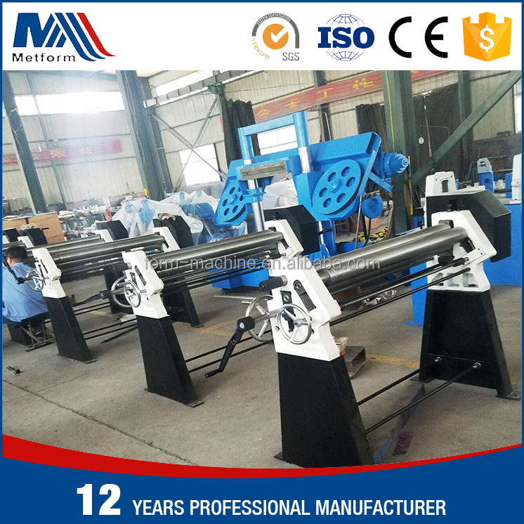 Manual 3 Rolls Small Sheet Roller Bending Machine,Small slip roll machine,3-Roller machine