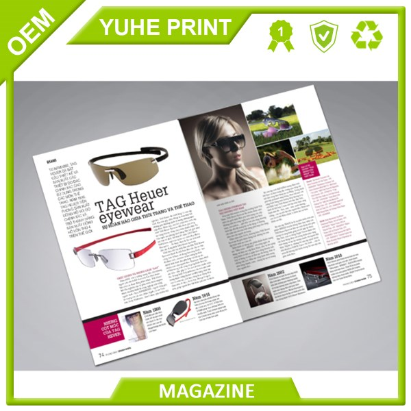 Top quality cheap price fashion colorful print factory printing magazine in Guangzhou