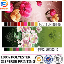 charming 3D flower printing fabric soft polyester fabric for bed sheet sets