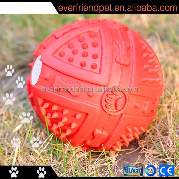 2015 New ! Squeaky Soft rubber ball with hole