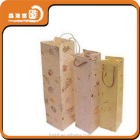 China supplier trendty custom paper wine bag