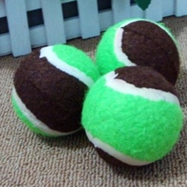 Pet sports equipment-rubber tennis ball for sale