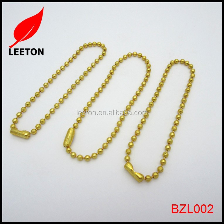 Gold decorative ball chain connector