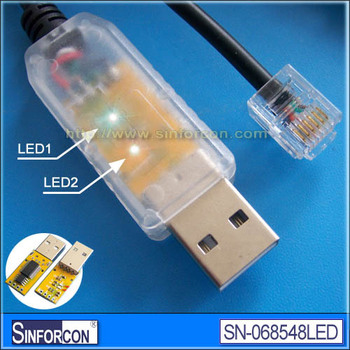FT232R, USB RS485 TO RJ11 CABLE, half duplex with Data+, Data-, GND, VCC