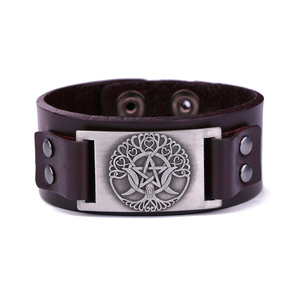 2018 New FashionTalisman Amulet Jewelry Wristband Bangle Mantra Snap Viking Bracelet
