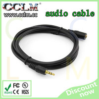 2015 hotest audio cable high quality made in china male to male and male to female 3.5mm audio cable