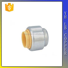 LB-GutenTop chrome plated brass end cap for push fitting